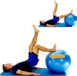 Dunsborough Physio exercises hamstring ball curl