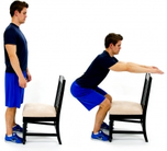 Dunsborough Physiotherapy Squat - chair guide