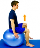 Dunsborough Physio Exercises Core Strength Fitball