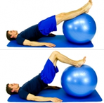 Dunsborough Physio Exercises Fitball hamstring curls