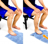 Dunsborough Physiotherapy - Towel Curls exercise