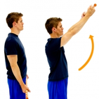Dunsborough Physiotherapy Exercise - Shoulder flexion broomstick