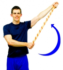 Dunsborough Physio exercise - shoulder broomstick abduction