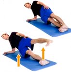 Dunsboroug Physio Exercises - Side Plank Hip Abduction