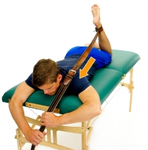 Dunsborough Physiotherapy prone knee belt flexion exercise