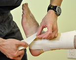 sports taping by dunsborough physiotherapist